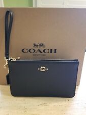 NWT Womens Coach Leather Black Wallet Multi Function