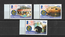 St Helena 2014 25th Anniv of the Launch of RMS St Helena Set + MS 2 Scans MNH