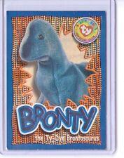 Ty S4 Beanie Card Wild Fact Bronty Ty-Dye Brontosaurus Silver Insert Only 258