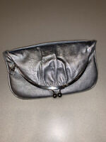 Hobo International Metallic Silver Foldover Kisslick Clutch ($158.00 Retail)