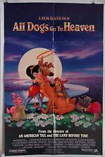 ALL DOGS GO TO HEAVEN ORIGINAL 1989 DS 1SHT MOVIE POSTER FOLDED B.REYNOLDS EX
