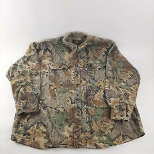 Cabela's Advantage Hunting Camo Long Sleeve Shirt Men's 3XL Tall Button up