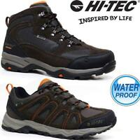 Mens Hi Tec Leather Walking Hiking Trekking Waterproof Trainers Boots Shoes Size