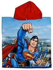 """New Superman """"Justice League"""" Poncho Boys Kids Sun Protect Holiday Beach Towel"""