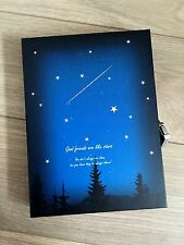 New Blue Star Vintage Retro Paper Box Blank Journal Diary Note Book With Lock