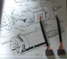 JAGUAR E Type (Ser I,II,III) STARTER MOTOR BRUSHES BRUSH SET (1961- Eng 7S4097)