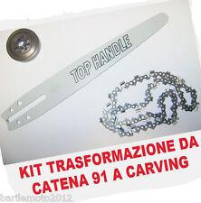Barra + Catena + Pignone Trasformazione da Motosega ALPINA A305 a A305C / CJ300