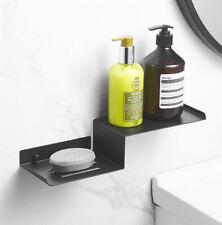 Black Stainless steel Ladder Rack Bathroom Shelf Shower Rack Bath Soap Holder