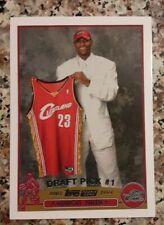 2003-2004 Lebron James Draft Pick #1 Topps Rookie Card RP #221