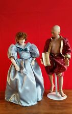 2 PORCELAIN DOLLS ~ THE KING AND I  ~  KING OF SIAM & ANNA - W.S. George