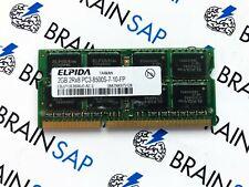 2GB DDR3 RAM Elpida EBJ21UE8BAU0-AE-E SO-DIMM - 2Rx8 PC3-8500S-7-10-FP 1066 MHz