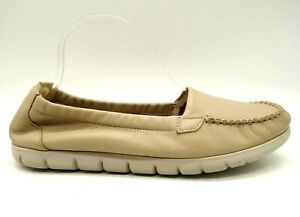 SAS Nude Leather Casual Slip On Comfort Loafers Shoes Women's 10 M
