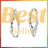 100 Pcs -925 Sterling Silver Earring Hooks Coil Ear Wire Findings Clasps Jewelry