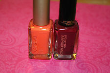 Lot of 2 L'Oreal Nail Polish in 410 L'Orange & 708 Beauty Never Fades