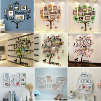 Paper Family Wedding Tree Frame Collage Pictures Photo Frame Wall Mount Decor 1