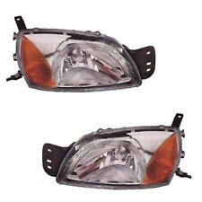 For Ford Courier Mk2 2000-2003 Headlights Headlamps 1 Pair O/s & N/s