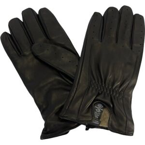Nordstrom Mens Gloves Black Perforated Cashmere Lined Leather L/XL New