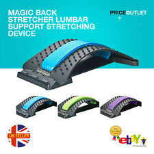 Back Magic Stretcher Lower Lumbar Pain Spine Massager Support Posture Relief UK