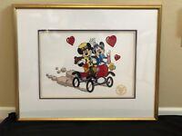 Mickey Mouse, Serigraph Cel, Sunday Drive, NIfty Nineties, 60 Years, Walt Disney