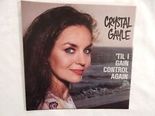 """CRYSTAL GAYLE """" 'Til I Gain Control Again"""" PICTURE SLEEVE! ONLY NEW COPY ON eBAY"""