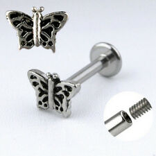 Surgical Steel Labret w/ Butterfly
