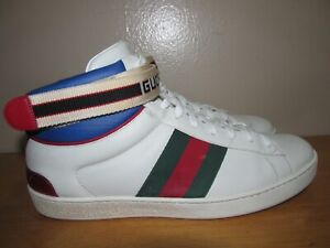 Authentic Gucci Stripe Ace High Top Size 8.5 G