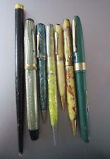 Vintage Fountain Pen/Pencils Lot Celluloid, Wood, Etc.