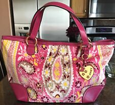 Juicy Couture Pink Multi Colored Paisley Satchel Bag - Brand New, Never Worn