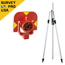 """New Leica """"Style"""" GPR111, GSR2, GLS11 Tri-Combo Prism Assembly, Prism Pole Bipod"""