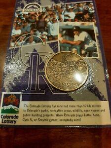 1996 Colorado Rockies Commemorative Coin, Colorado Lottery