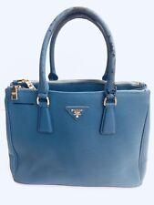 Defect Prada Saffiano - Double Zip Viola Authentic Blue