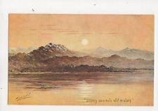 Cynicus Snowy Summits Old In Story Vintage Postcard 320b