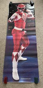 VTG Power Rangers Jason Red door Poster 1994 Mighty morphine Saban