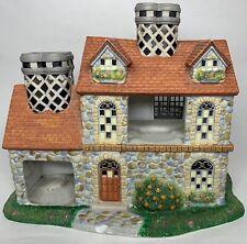 Pre-owned Partylite Olde World Village # 3 Bristol Victorian House