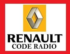 code pin pour autoradio renault megane, senic, trafic, laguna, modus