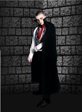 Halloween Dracula Vampire Cape Full Length Black cape Collar Adult dress up Dav