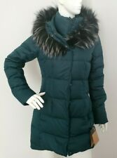 WOMEN'S THE NORTH FACE FUR HOODED DOWN PARKINA PARKA PONDEROSA GREEN SZ XS S M