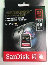 SanDisk Extreme Pro 633X 95MB/S Class 10 32GB SDHC SD UHS-I U3 Flash Memory Card