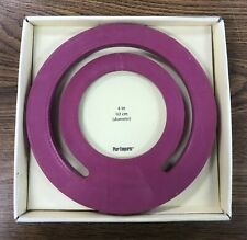 "NIP Pier One 1 Imports 7.5"" Round Desktop Magenta Picture Frame Fits 4"" Photo"