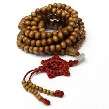 216 Sandalwood Buddhist Buddha Prayer Bead Mala Necklace Bracelet