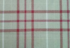 1 Metre Laura Ashley Keynes Cranberry  Fabric Curtain Checked  Upholstery