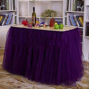 US Wedding Tulle Tutu Table Skirt Baby Shower Birthday Party Table Skirt Decor