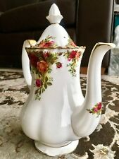Vintage (1960s) Royal Albert Old Country Roses Coffee Pot In Perfect Condition