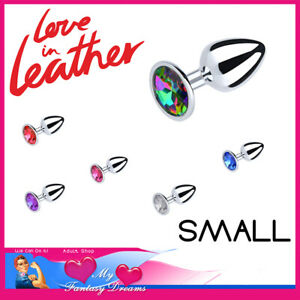 6cm Insert Anal Plugs Smooth Stainless Steel Gemstone Jewellery For Booty Kinks