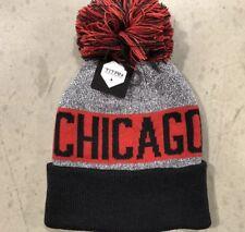 NWT - Chicago Bulls Team Color Pom pompom Beanie winter hat cap FREE S/H !!
