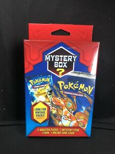 Pokemon Card Mystery Box New Vintage Packs Seeded 1:5 Sealed
