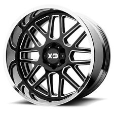 "22"" XD Series Two Piece Cast XD201 Grenade Black Center Chrome Lip 22x12 Wheels"