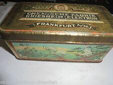 26233 Chemische Fabrik Griesheim Elektron FFM Blechdose tin Litho Kranich 1920