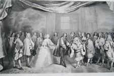 LOUIS XIV PHILIPPE IV ILE DES FAISANS 1660 GRAVURE 1838 VERSAILLES R2128