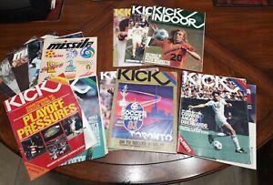 (14) KICK, Missle, Kick Indoor (1981-85) Program Magazine NASL & MISL  Cosmos